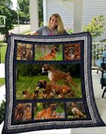 Boxer Boxer Family Boxer Beauty Nature Boxer Cubs Quilt Blanket Great Customized Blanket Gifts For Birthday Christmas Thanksgiving
