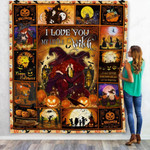 I Love You My Little Witch Mom With And Her Daughter Quilt Blanket Great Customized Blanket Gifts For Birthday Christmas Thanksgiving