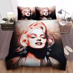 Marilyn Monroe Charming In Art Painting Bed Sheets Spread Comforter Duvet Cover Bedding Sets