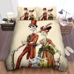 The Nightmare Before Christmas Jack & Sally In Aristocratic Clothes Bed Sheets Spread Comforter Duvet Cover Bedding Sets
