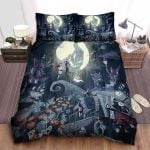 The Nightmare Before Christmas Jack & Sally In Halloween Town Bed Sheets Spread Comforter Duvet Cover Bedding Sets