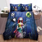 The Nightmare Before Christmas Jack & Sally In Scary Woods Bed Sheets Spread Comforter Duvet Cover Bedding Sets