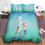 Rick And Morty Digital Illustration Bed Sheets Spread Comforter Duvet Cover Bedding Sets