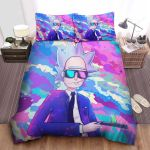 Cool Rick In Watercolor Painting Bed Sheets Spread Comforter Duvet Cover Bedding Sets