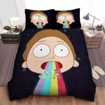 Morty And A Trippy Rainbow Bed Sheets Spread Comforter Duvet Cover Bedding Sets