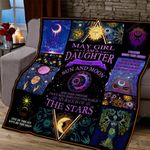 May Girl Daughter Of The Sun And Moon Purple Quilt Blanket Great Customized Blanket Gifts For Birthday Christmas Thanksgiving