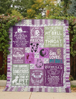 Pitbull Heart And Soul   Purple Quilt Blanket Great Customized Blanket Gifts For Birthday Christmas Thanksgiving
