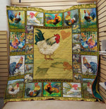 Chicken Beware The Cocks Are All Around Quilt Blanket Great Customized Blanket Gifts For Birthday Christmas Thanksgiving