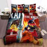 Ninjago Kai & The Fire Ninja Split Digital Art Bed Sheets Spread Comforter Duvet Cover Bedding Sets