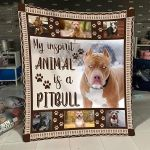 Pitbull My Inspirit Animal Is A Pitbull August Pitbull Quilt Blanket Great Customized Blanket Gifts For Birthday Christmas Thanksgiving