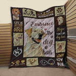 Labrador Embrace The Dog Hair Dogs Quilt Blanket Great Customized Blanket Gift For Birthday Christmas Thanksgiving Anniversary