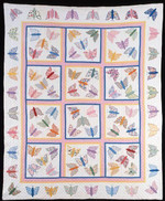 Butterfly Butterflies In Different Colors And Patterns Insects Quilt Blanket Great Customized Blanket Gifts For Birthday Christmas Thanksgiving