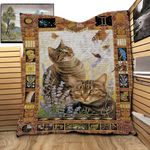 Cat Vintage Cat And Butterfly Lavender Quilt Blanket Great Customized Gifts For Birthday Christmas Thanksgiving Perfect Gifts For Cat Lover