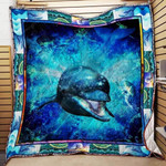 Giant Dolphin Under The Water Quilt Blanket Great Customized Gifts For Birthday Christmas Thanksgiving Anniversary