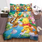 Disney Winnie The Pooh & Friends In The Stream Bed Sheets Spread Comforter Duvet Cover Bedding Sets