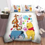 Disney Winnie The Pooh & Pals Cute Pattern Bed Sheets Spread Comforter Duvet Cover Bedding Sets