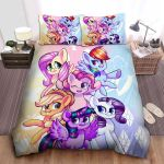 My Little Pony Sisters Sweet Ponies Illustration Bed Sheets Spread Comforter Duvet Cover Bedding Sets