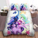 My Little Pony Alicorn Ponies Digital Art Bed Sheets Spread Comforter Duvet Cover Bedding Sets