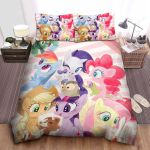 My Little Pony Playing With Cute Animals Painting Bed Sheets Spread Comforter Duvet Cover Bedding Sets