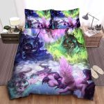 My Little Pony In Digital Watercolor Art Bed Sheets Spread Comforter Duvet Cover Bedding Sets