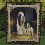 Animal Family Dog This Love Will Last Old English Sheepdog Quilt Blanket Great Customized Blanket Gifts For Birthday Christmas Thanksgiving