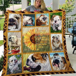 Bulldog I'll Love You Forever Quilt Blanket Great Customized Blanket Gifts For Birthday Christmas Thanksgiving