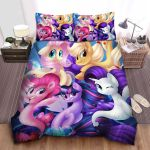 My Little Pony The Main Ponies Transform Into Mermaids Bed Sheets Spread Comforter Duvet Cover Bedding Sets