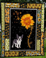 French Bulldog You Are My Sunshine Dumb Face Quilt Blanket Great Customized Blanket Gifts For Birthday Christmas Thanksgiving