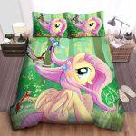 My Little Pony Fluttershy Playing With Birds Bed Sheets Spread Comforter Duvet Cover Bedding Sets
