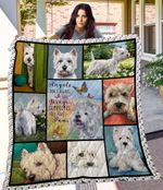Westie Sometimes Angels Have Paws Quilt Blanket Great Customized Blanket Gifts For Birthday Christmas Thanksgiving Anniversary