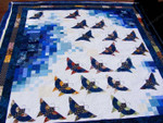 Butterfly Patchwork Butterflies In Different Colors Blue Quilt Blanket Great Customized Blanket Gifts For Birthday Christmas Thanksgiving