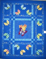Butterfly Patchwork Butterflies In Different Colors Yellow And Purple Quilt Blanket Great Customized Blanket Gifts For Birthday Christmas Thanksgiving