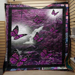 Butterfly Secret Garden Purple Quilt Blanket Great Customized Blanket Gifts For Birthday Christmas Thanksgiving Anniversary