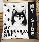 Chihuahua Dog My Chihuahua Side Quilt Blanket Great Customized Blanket Gifts For Birthday Christmas Thanksgiving Anniversary