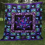 Heavenly Butterfly Blue And Purple Butterflies Star Made From Purple Butterflies Quilt Blanket Great Customized Blanket Gifts For Birthday Christmas Thanksgiving
