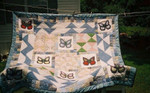 Butterfly Butterflies In Different Colors Motif Diamonds Pattern Quilt Blanket Great Customized Blanket Gifts For Birthday Christmas Thanksgiving