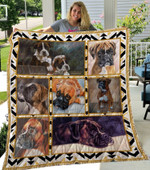 Boxer Couple Boxer Nice Dogs Quilt Blanket Great Customized Blanket Gifts For Birthday Christmas Thanksgiving