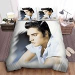 Elvis Presley With Green Eyes In Portrait Painting Bed Sheets Spread Comforter Duvet Cover Bedding Sets