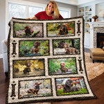 Dachshund Dog Going Out Emotion Quilt Blanket Great Customized Blanket Gifts For Birthday Christmas Thanksgiving