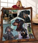 Dachshund Dog Best Friend Dogs Quilt Blanket Great Customized Blanket Gifts For Birthday Christmas Thanksgiving