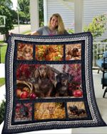 Dachshund Dog Best Friend Emotion Quilt Blanket Great Customized Blanket Gifts For Birthday Christmas Thanksgiving