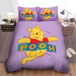 Disney Winnie The Pooh Happily In Pink Theme Bed Sheets Spread Comforter Duvet Cover Bedding Sets