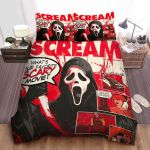 Ghostface In Scream Comic Art Style Poster Bed Sheets Spread Comforter Duvet Cover Bedding Sets