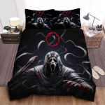 Bloody Ghostface In Dead By Daylight Bed Sheets Spread Comforter Duvet Cover Bedding Sets