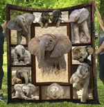 Elephant Animal Cute Baby Elephant Quilt Blanket Great Customized Blanket Gifts For Birthday Christmas Thanksgiving