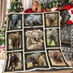 Elephant Cute Pose Quilt Blanket Great Customized Blanket Gifts For Birthday Christmas Thanksgiving