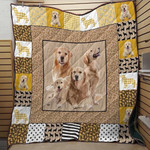Golden Retriever Dogs Quilt Blanket Great Customized Blanket Gifts For Birthday Christmas Thanksgiving