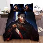 Bloody Michael Myers In Acrylic Painting Bed Sheets Spread Comforter Duvet Cover Bedding Sets