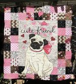 Pug Cute Friend Dogs Heart Quilt Blanket Great Customized Blanket Gifts For Birthday Christmas Thanksgiving
