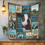 The Farm Life Chose Me, Cow Quilt Blanket Great Customized Blanket Gifts For Birthday Christmas Thanksgiving